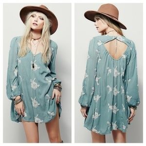 FREE PEOPLE Embroidered Austin Dress S